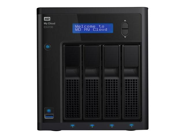WD My Cloud EX4100 WDBWZE0160KBK – Server NAS – 4 alloggiamenti – 16 TB – HDD 4 TB x 4 – RAID 0, 1, 5, 10, JBOD, sostituzione a caldo – Gigabit Ethernet – iSCSI [ TT146842 ]