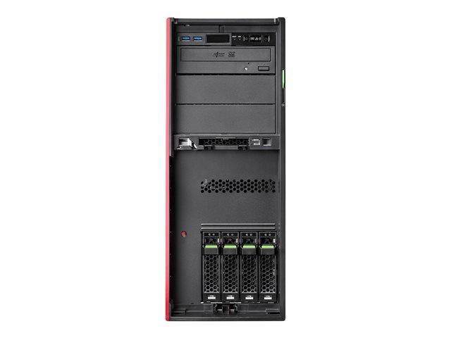 Fujitsu PRIMERGY TX1330 M4 – Server – tower – 4U – 1 via – 1 x Xeon E-2124 / 3.3 GHz – RAM 16 GB – SATA – hot-swap 3.5″ – nessun HDD – DVD SuperMulti – GigE, iSCSI – senza SO -monitor: nessuno [ TT794204 ]