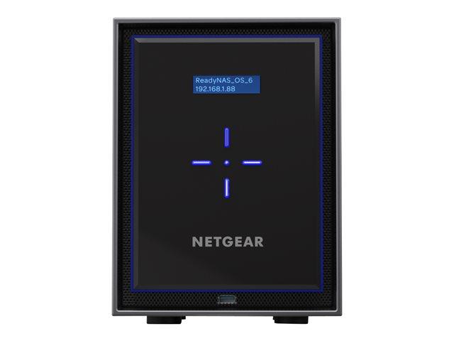 NETGEAR ReadyNAS 426 – Server NAS – 6 alloggiamenti – HDD 4 TB x 6 – RAID 0, 1, 5, 6, 10, JBOD – RAM 2 GB – Gigabit Ethernet – iSCSI [ TT410132 ]