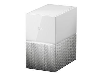 WD My Cloud Home Duo WDBMUT0060JWT – Dispositivo di storage personal cloud – 6 TB – HDD 3 TB x 2 – RAID 1, JBOD – Gigabit Ethernet [ TT687705 ]