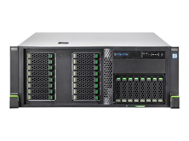 Fujitsu PRIMERGY TX1330 M4 – Server – tower – 4U – 1 via – 1 x Xeon E-2136 / 3.3 GHz – RAM 16 GB – SATA – hot-swap 2.5″ – nessun HDD – DVD SuperMulti – GigE, iSCSI – senza SO -monitor: nessuno [ TT794187 ]