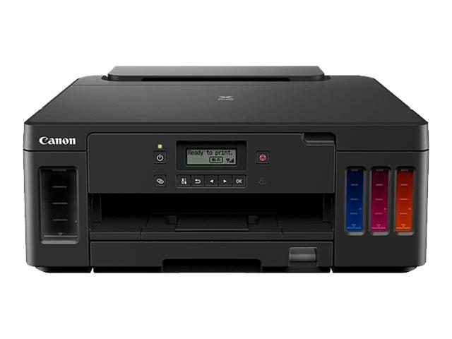 Canon PIXMA G5050 – Stampante – colore – Duplex – ink-jet – A4/Legal – fino a 13 ipm (mono) / fino a 6.8 ipm (colore) – capacità 350 fogli – USB 2.0, LAN, Wi-Fi(n) [ TT808114 ]