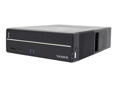 Yashi YY19451 – Desktop sottile – Core i5 9400 / 2.9 GHz – RAM 8 GB – SSD 512 GB – masterizzatore DVD – UHD Graphics 630 – GigE – Win 10 Pro Edizione a 64 bit -monitor: nessuno – tastiera: italiana [ TT809186 ]
