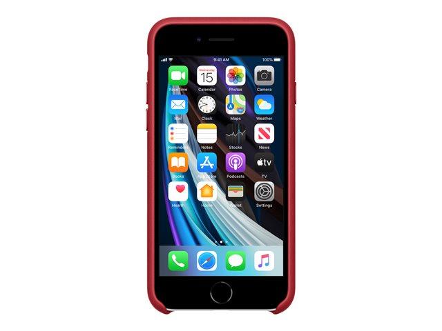 Apple (PRODUCT) RED – Copertina per cellulare – pelle – rosso – per iPhone 7, 8, SE (2nd generation) [ TT810462 ]