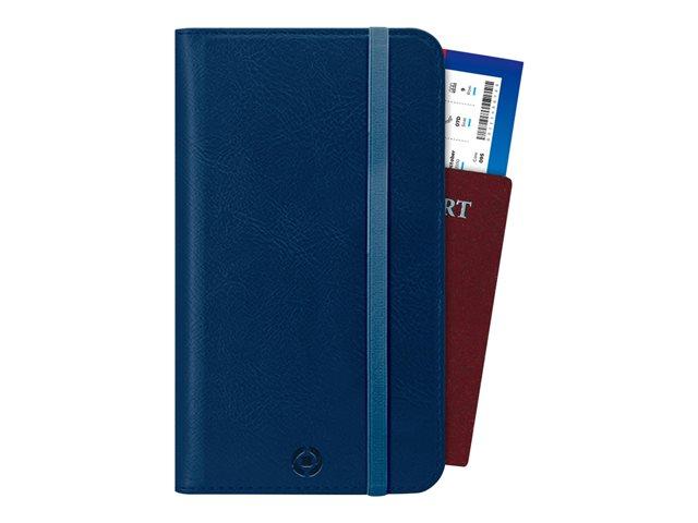 CELLY Duomo – Copertina protezione documenti for passport/travel documents – similpelle – blu [ TT812328 ]