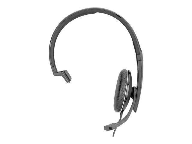 EPOS I SENNHEISER ADAPT SC 135 – Cuffie con microfono – on-ear – cablato – eliminazione rumore attivata – jack 3,5 mm – nero, bianco [ TT813639 ]
