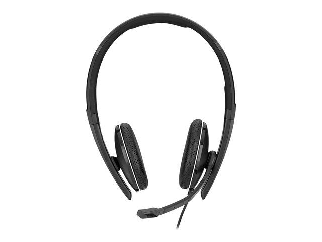 EPOS I SENNHEISER ADAPT SC 165 USB – Cuffie con microfono – on-ear – cablato – eliminazione rumore attivata – USB, jack 3,5 mm – nero, bianco [ TT813538 ]