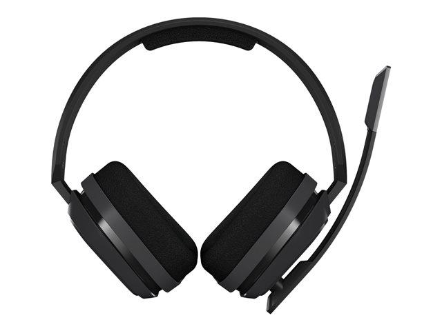 ASTRO A10 – Cuffie con microfono – dimensione completa – cablato – jack 3,5 mm – grigio, rosso [ TT813655 ]