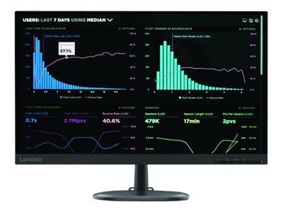 Lenovo C24-25 – Monitor a LED – 23.8″ (23.8″ visualizzabile) – 1920 x 1080 Full HD (1080p) @ 75 Hz – VA – 250 cd/m² – 1000:1 – 4 ms – HDMI, VGA – nero corvino [ TT806680 ]