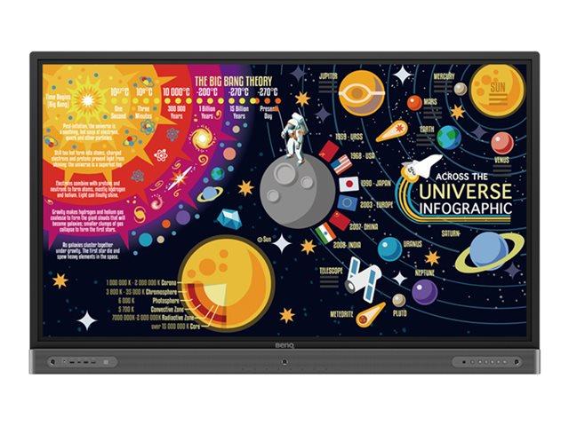 BenQ RP8602 – 86″ Categoria diagonale display LED – interattiva – con touch screen (multi touch) – 4K UHD (2160p) 3840 x 2160 – D-LED Backlight [ TT814417 ]