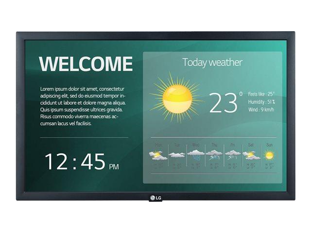 LG 22SM3G-B – 22″ Categoria diagonale (21.5″ visualizzabile) – SM3G Series display LED – segnaletica digitale con Integrated Pro:Idiom – 1080p (Full HD) 1920 x 1080 – nero [ TT809776 ]