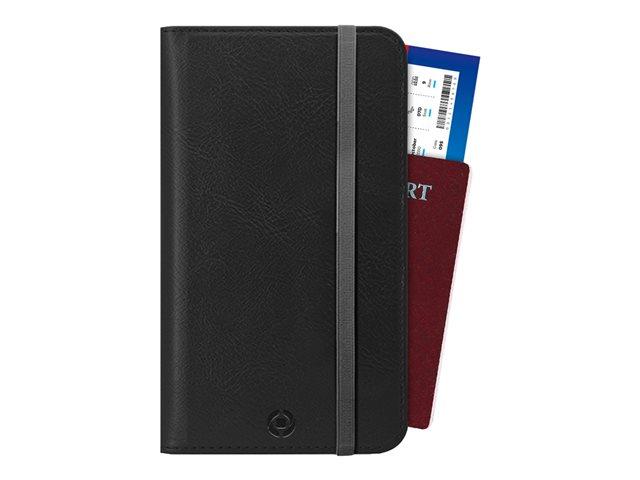 CELLY Duomo Passport – Astuccio per carte/documenti di viaggio – similpelle – nero [ TT812327 ]